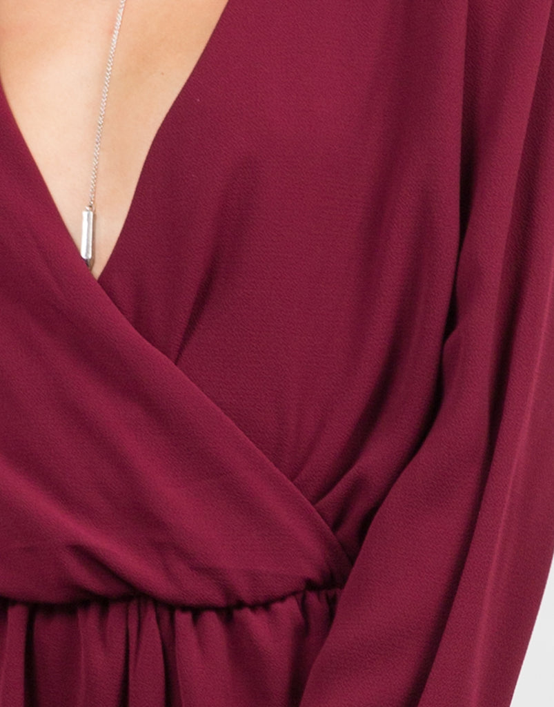 Detail of Bell Sleeve Chiffon Romper