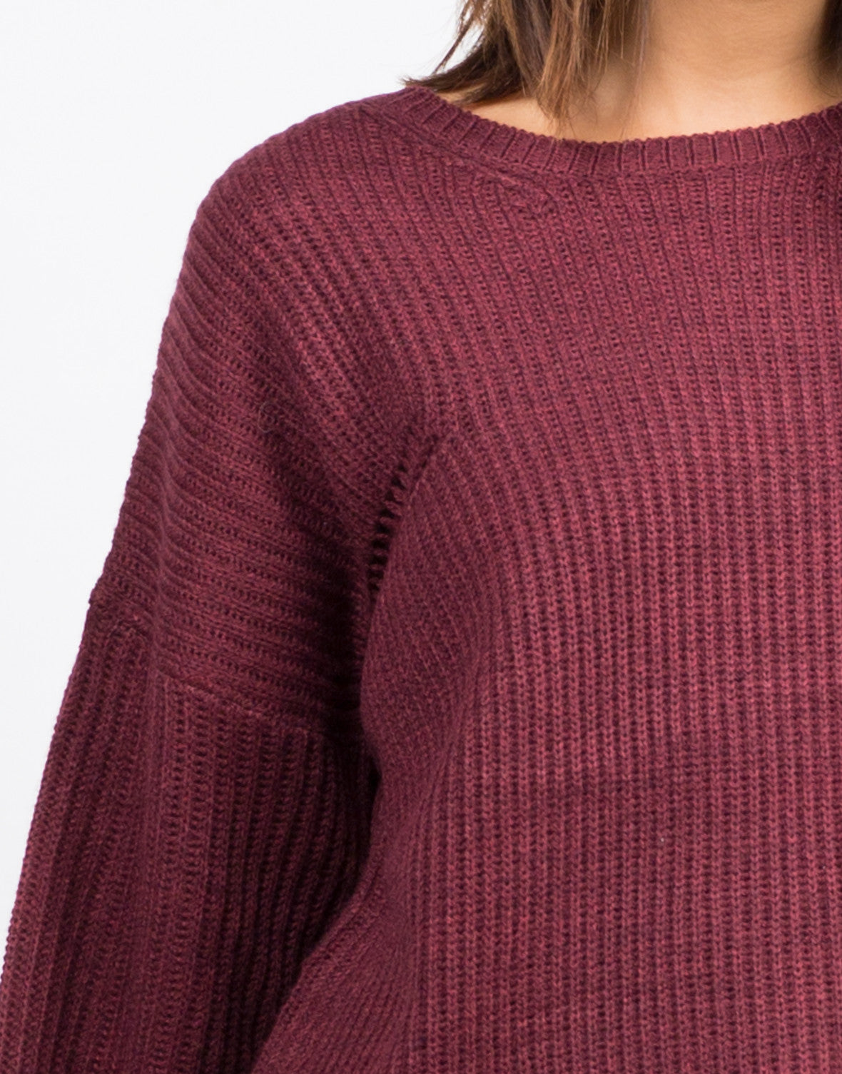 Detail of Bell Sleeve Knit Sweater