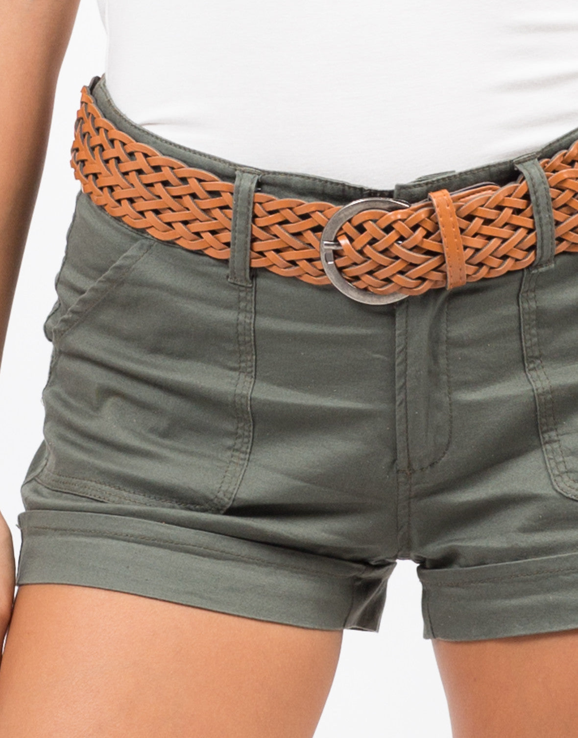 Detail of Belted Cargo Shorts