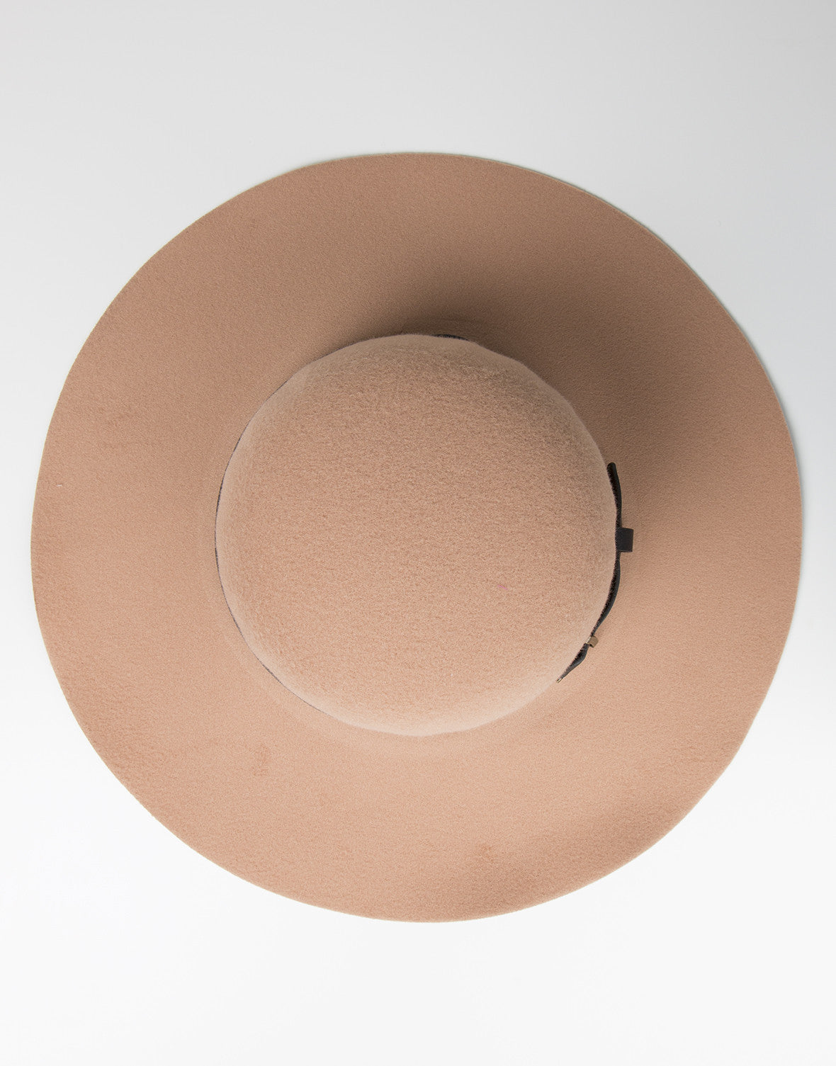 Top View of Belted Floppy Hat