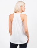 Back View of Bla Bla Bla Graphic Tank
