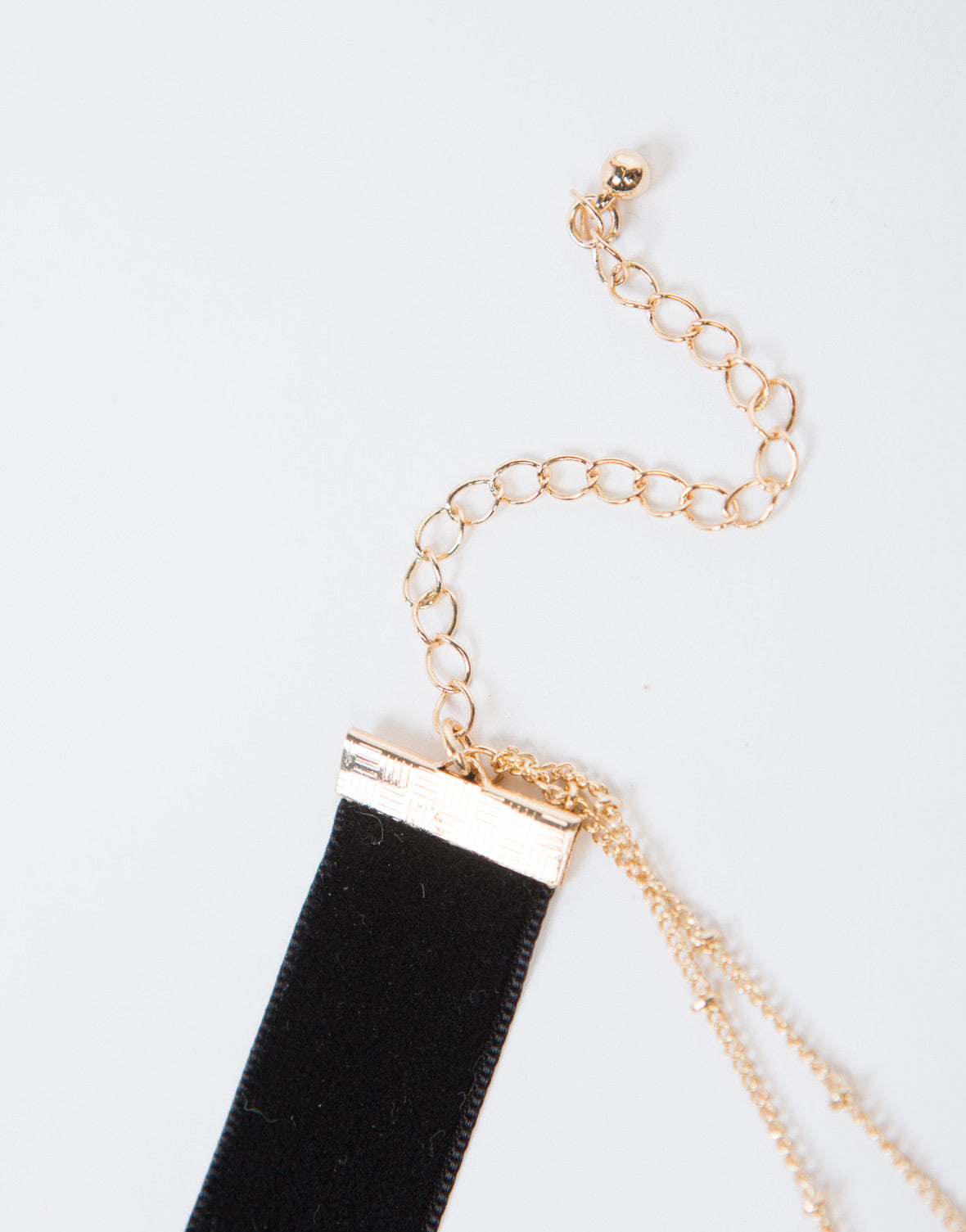 Black Velvet Layered Necklace