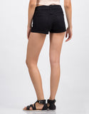Back View of Black Six Pocket Shorts