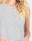 Detail of Black Striped Muscle Tee