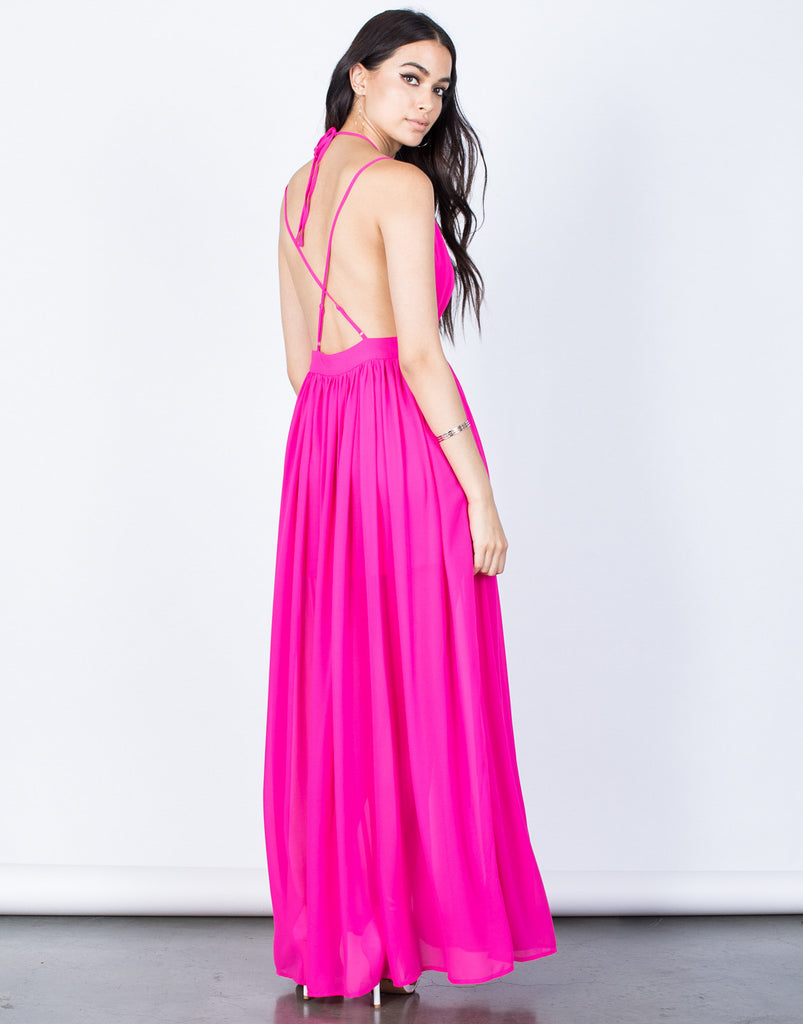 Back View of Blair Maxi Dress