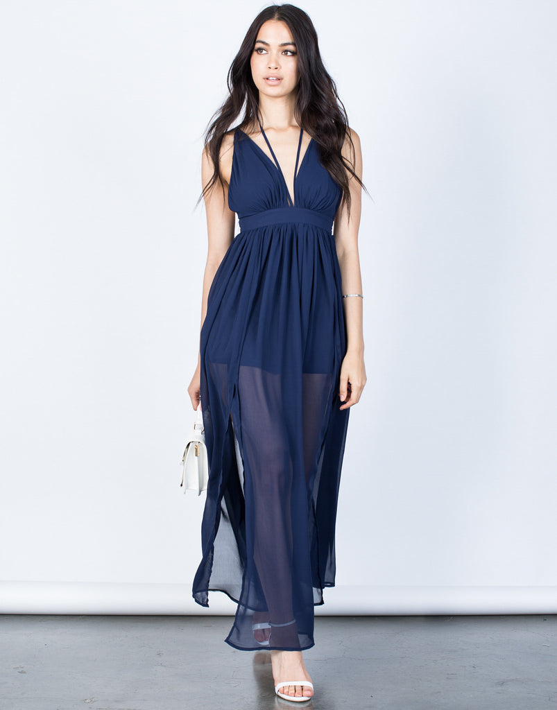 Front View of Blair Maxi Dress