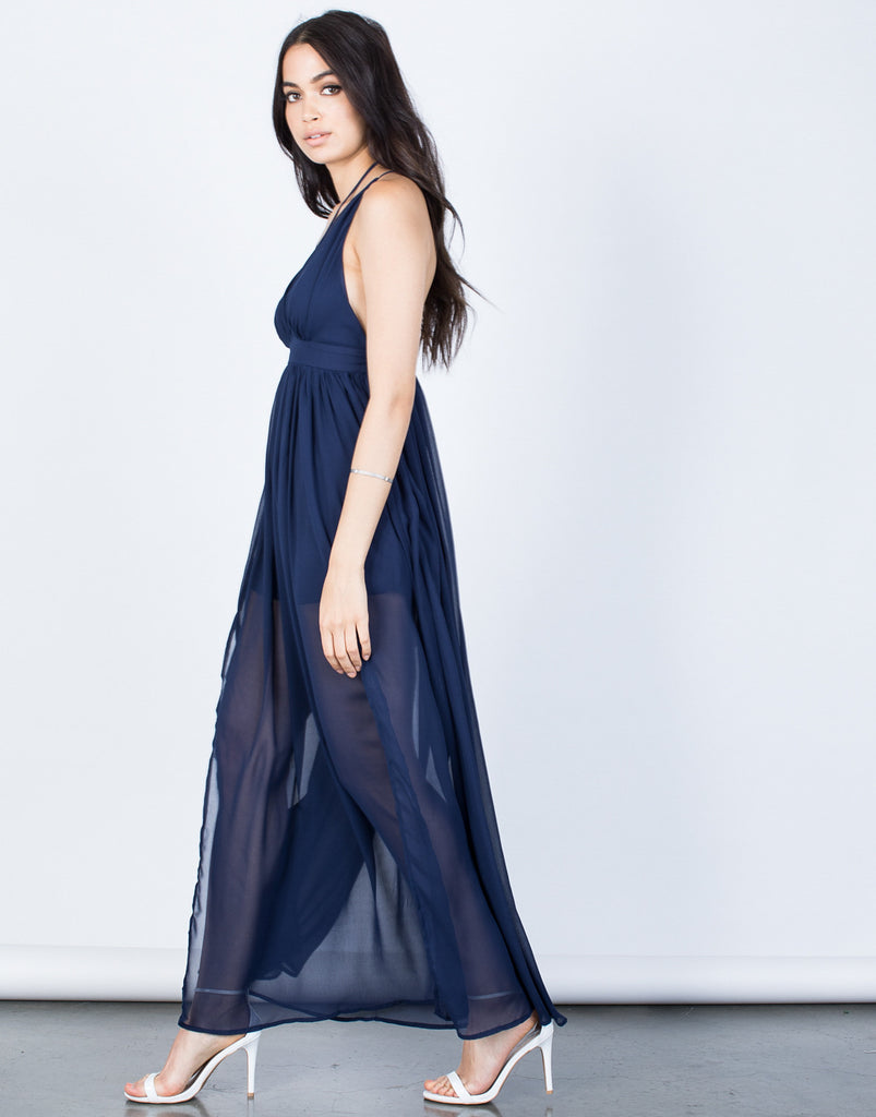 Side View of Blair Maxi Dress