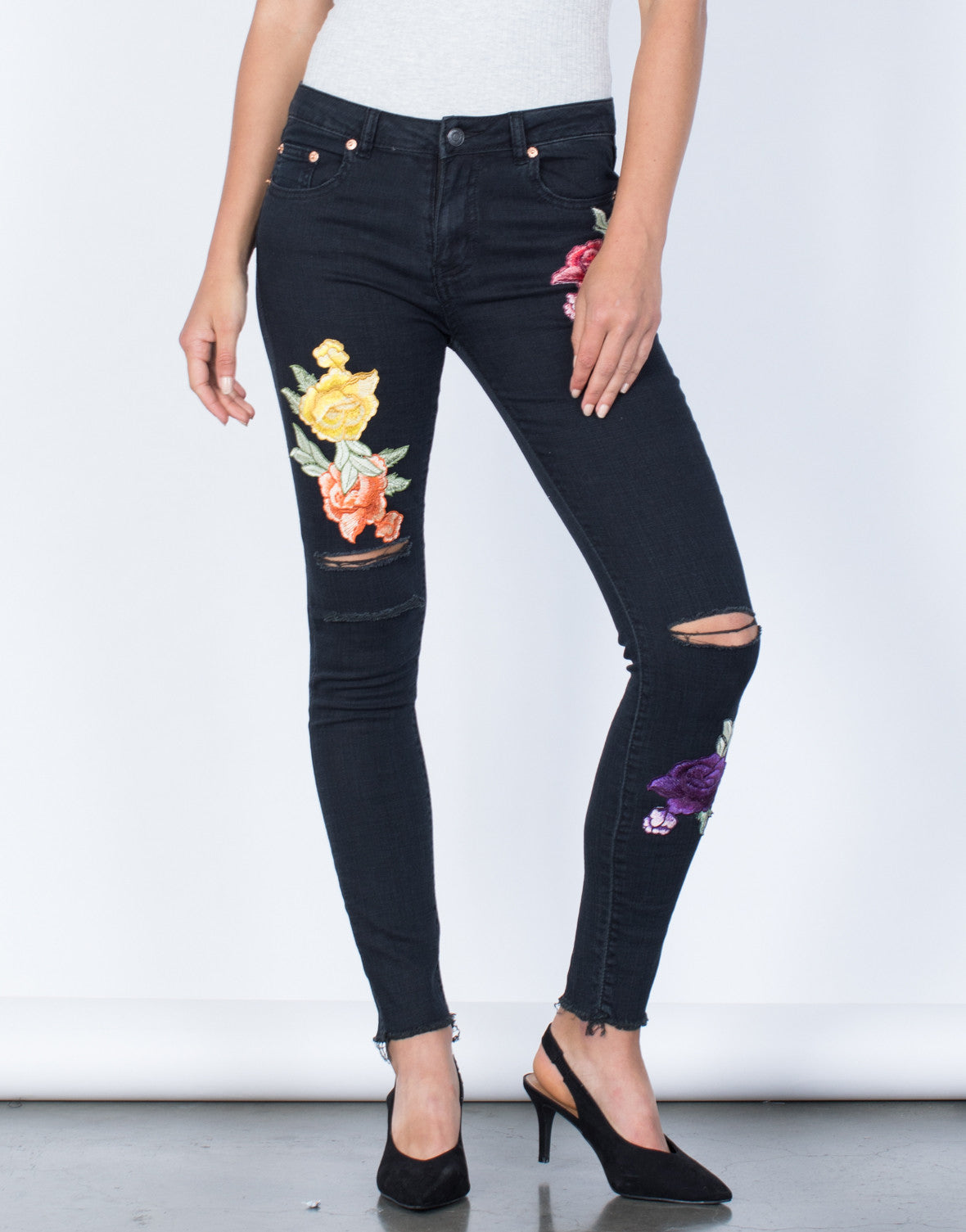 Front View of Bloom into Color Jeans