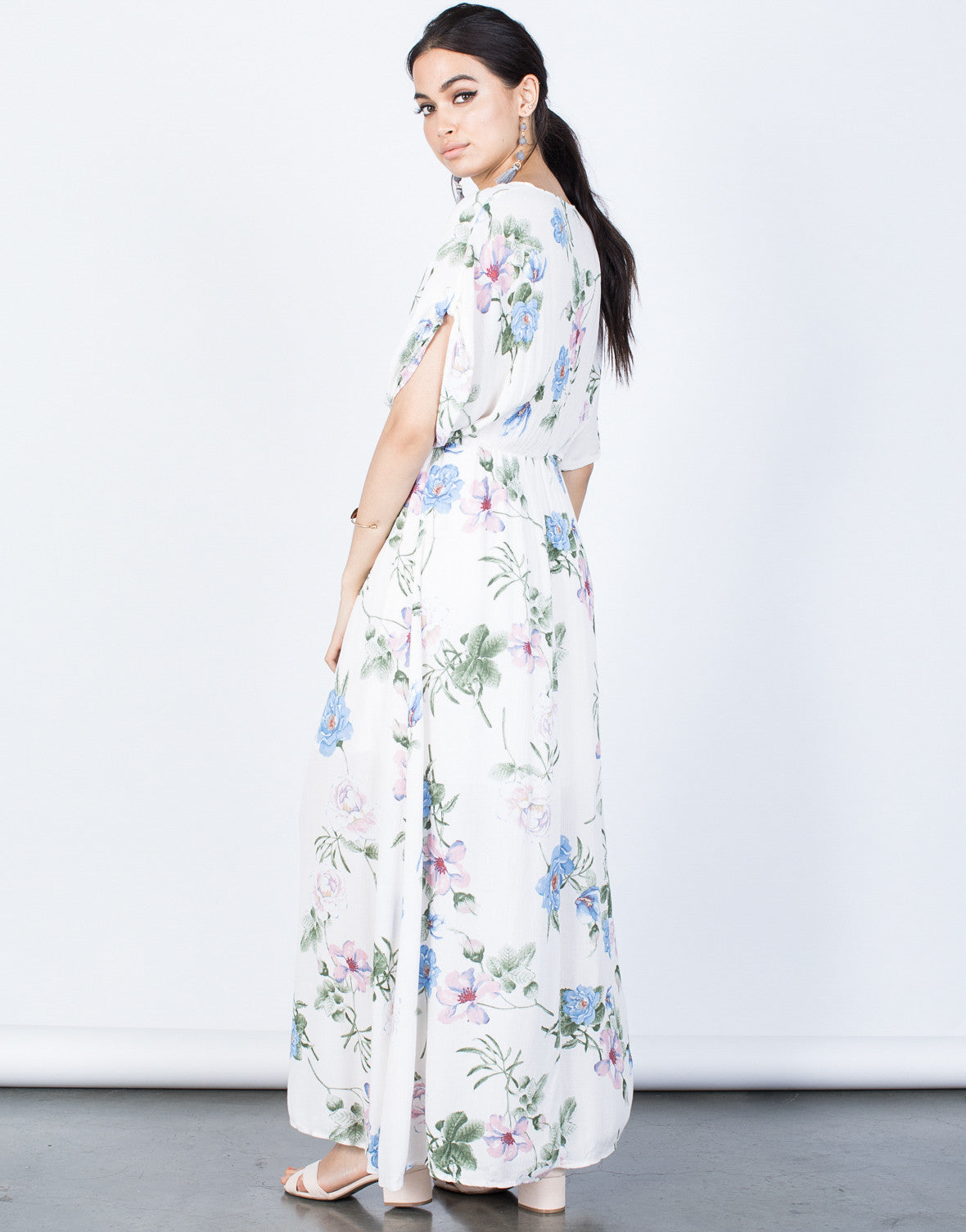 Back View of Blossoming Floral Dress