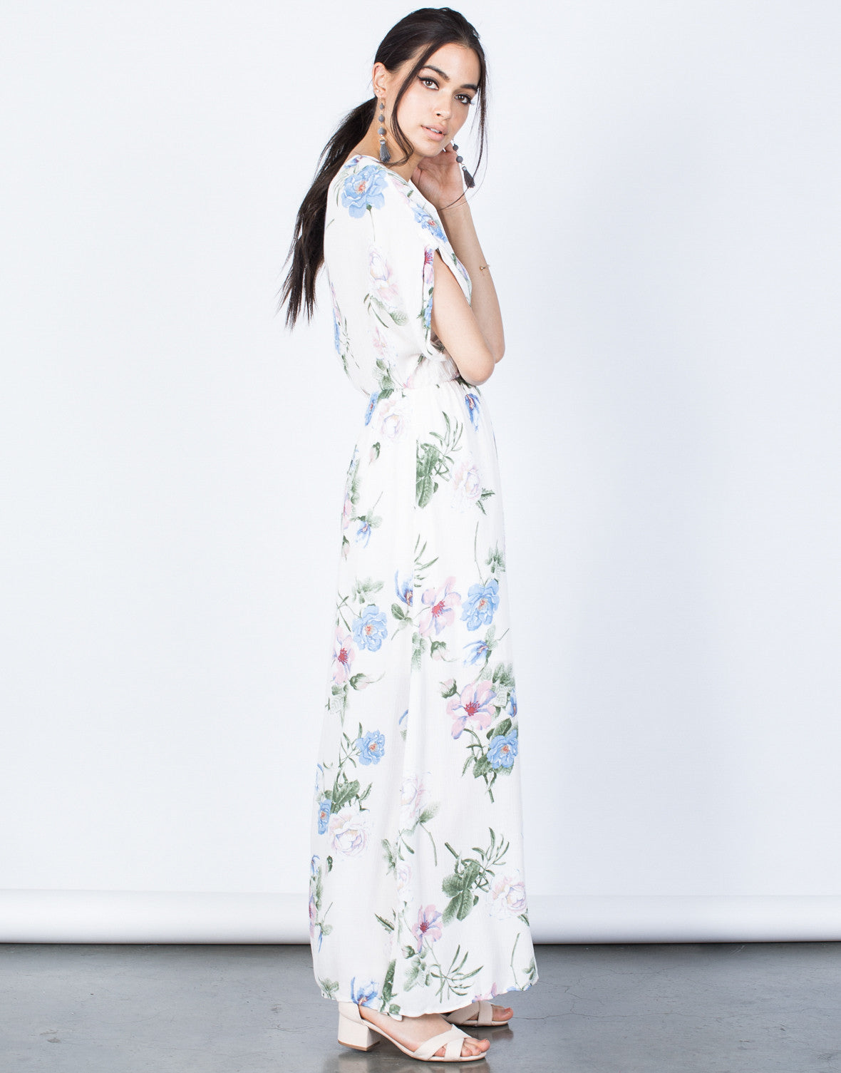 Side View of Blossoming Floral Dress
