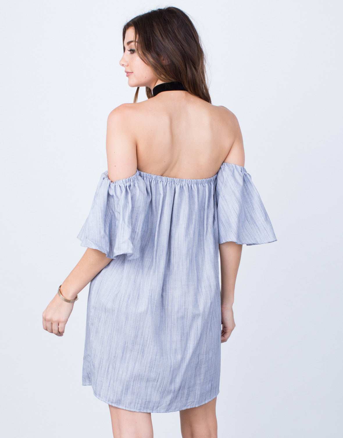 Back View of Blurred Lines Flowy Dress