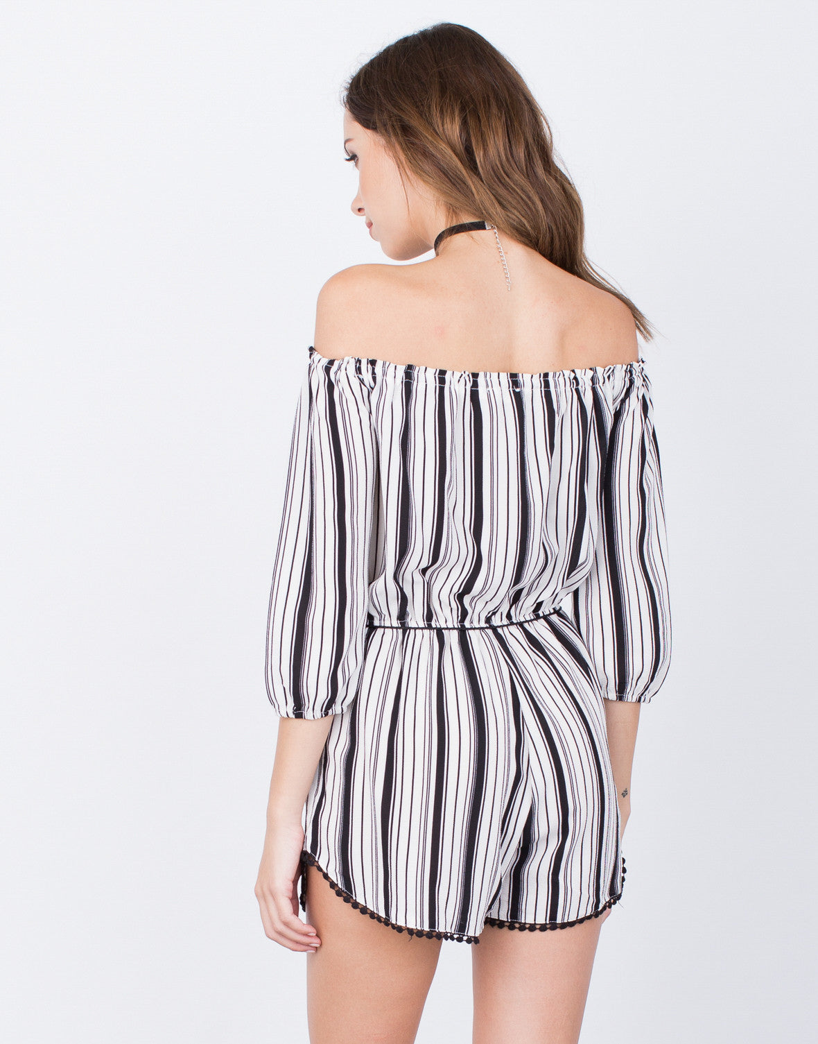 Back View of Blurred Lines Romper