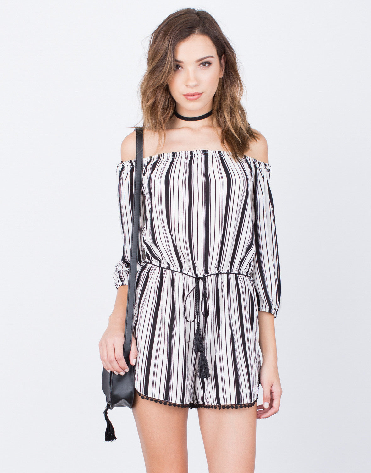 Front View of Blurred Lines Romper