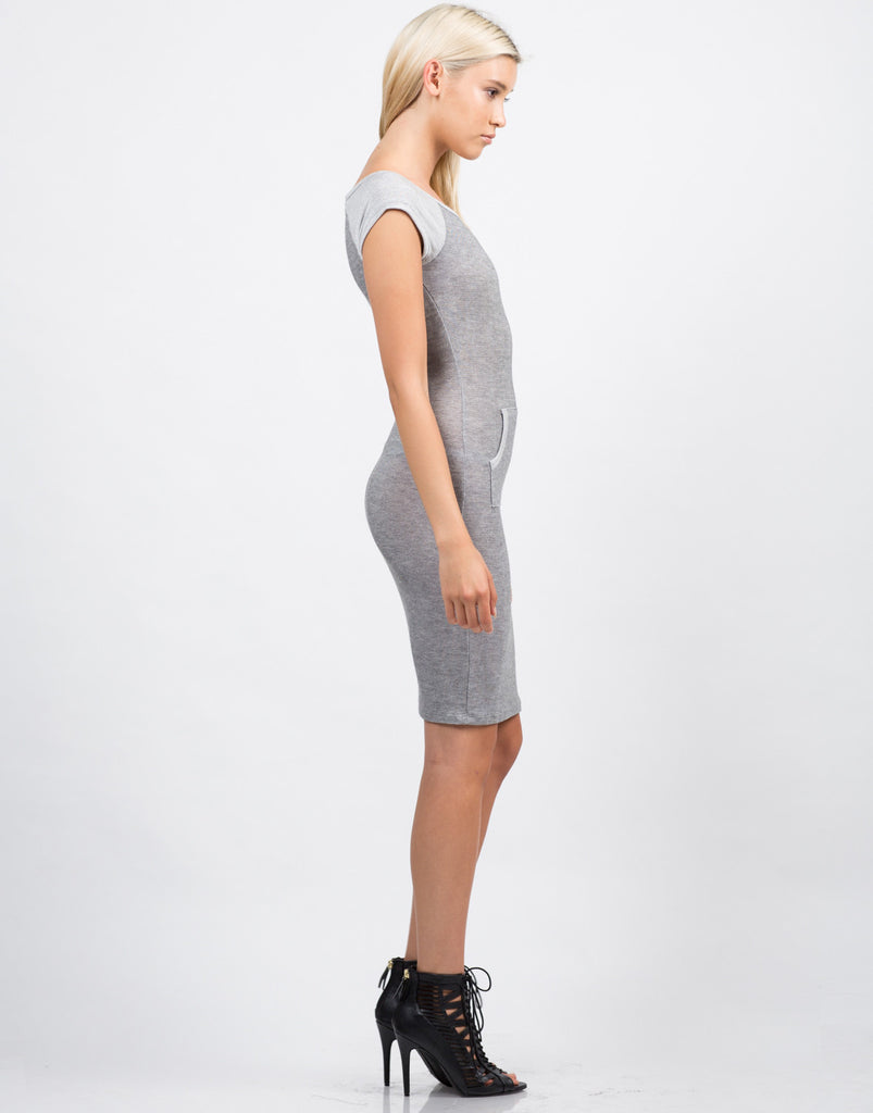 Side View of Blurred Lines Pocket Dress