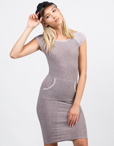 Front View of Blurred Lines Pocket Dress