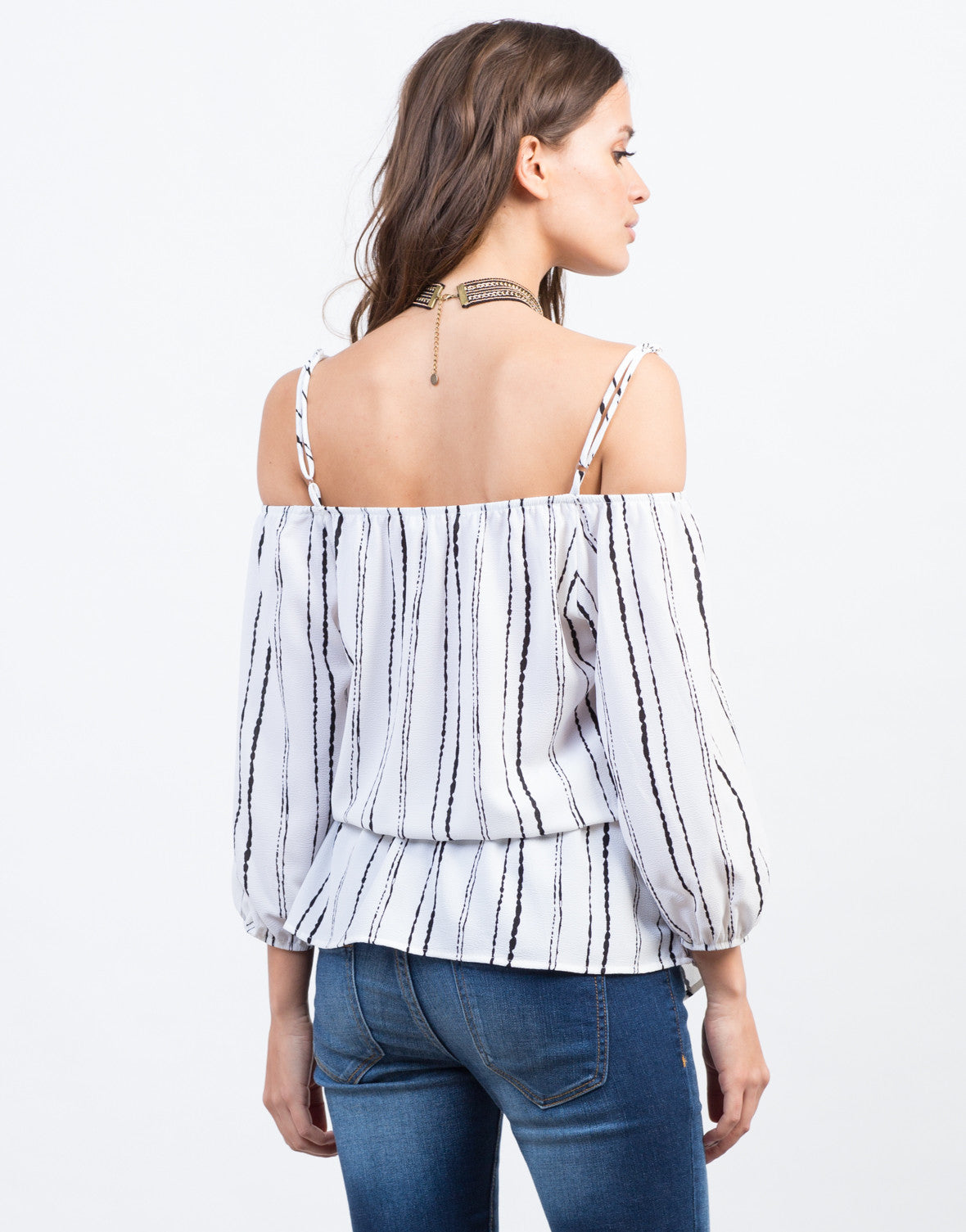Back View of Blurred Lines Top