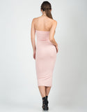 Back View of Blushin' Midi Dress