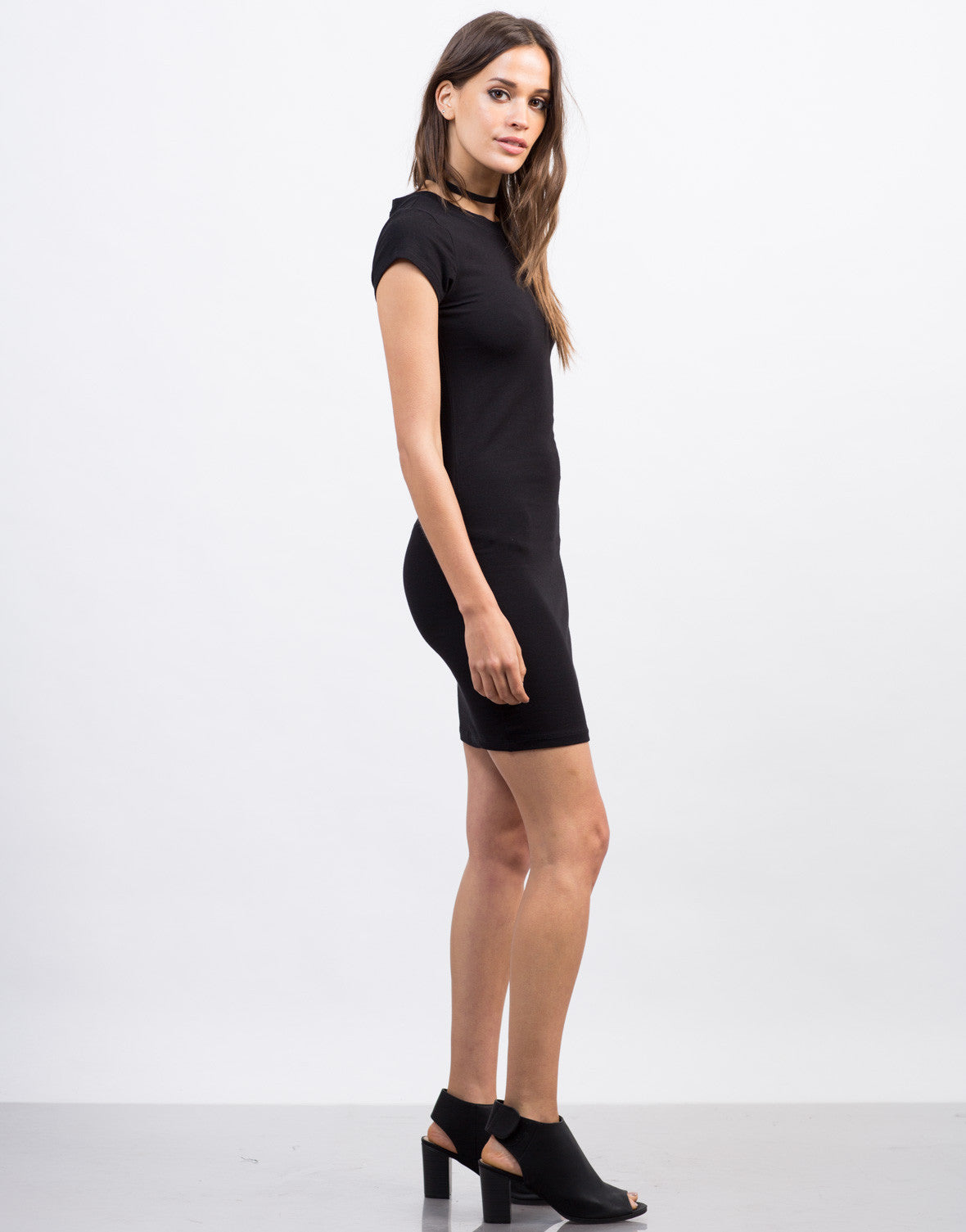 Side View of Bodycon T-Shirt Dress