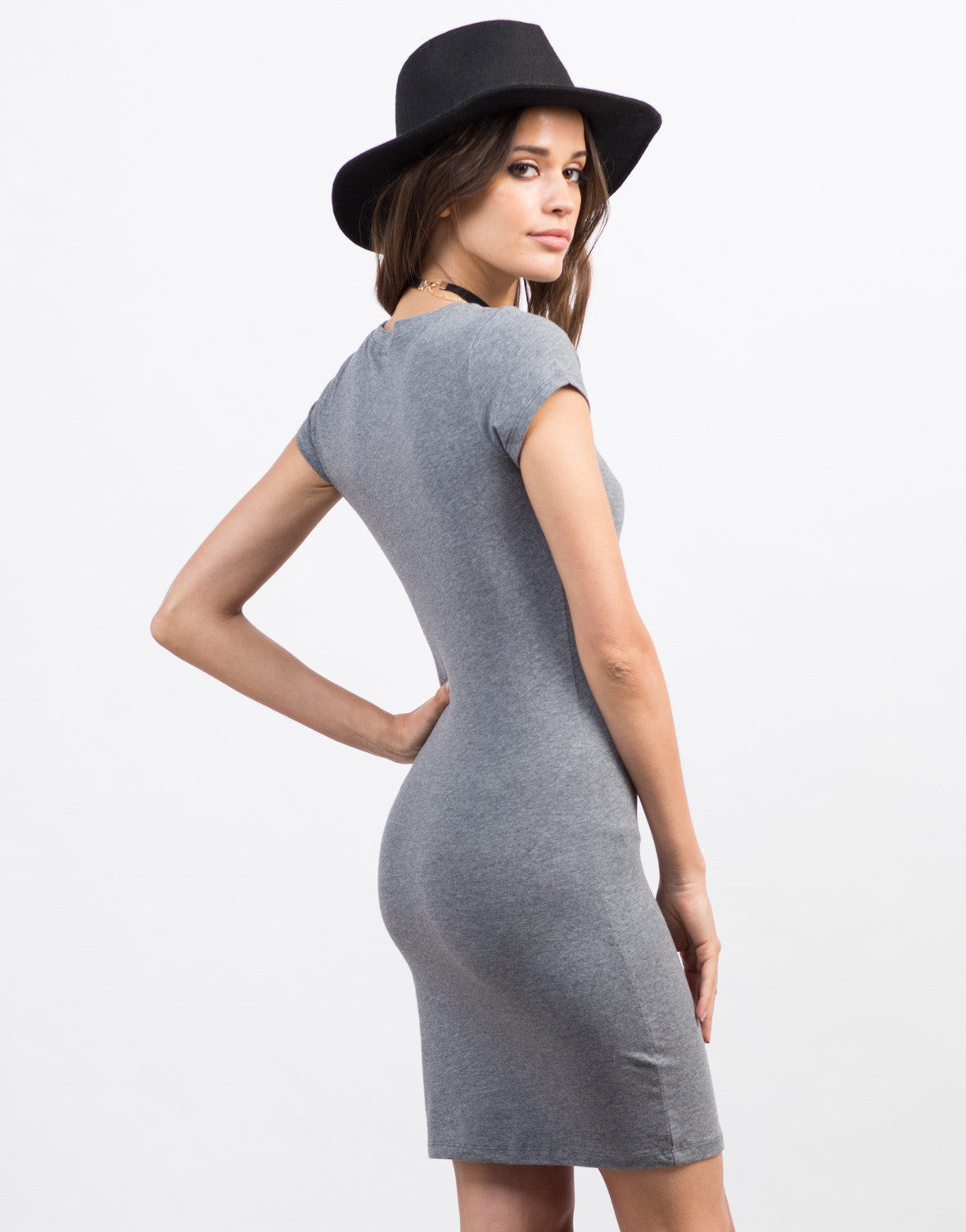 Back View of Bodycon T-Shirt Dress