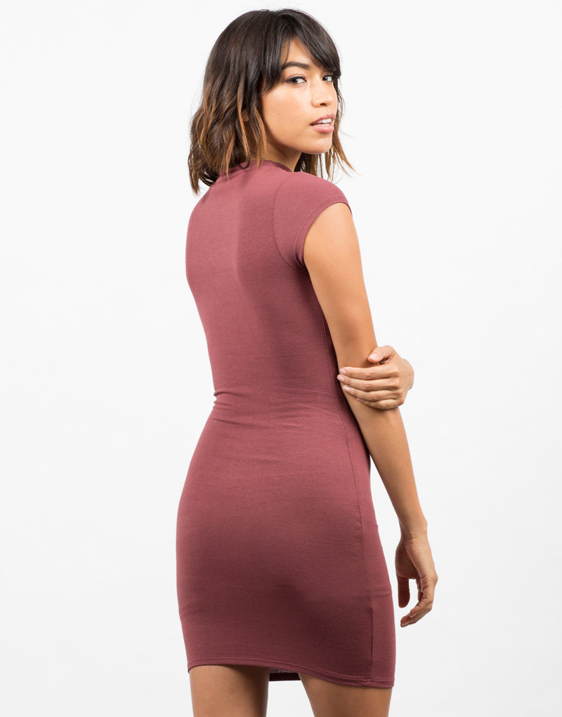 Back View of Bodycon Tee Dress
