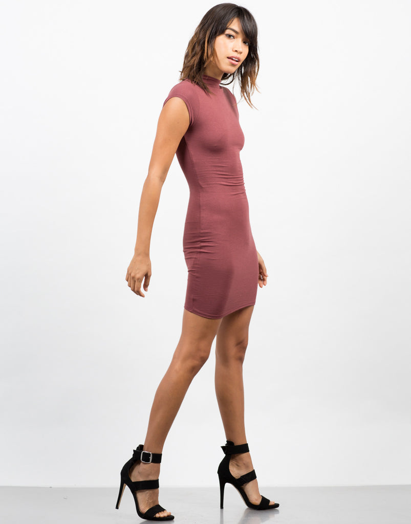 Side View of Bodycon Tee Dress
