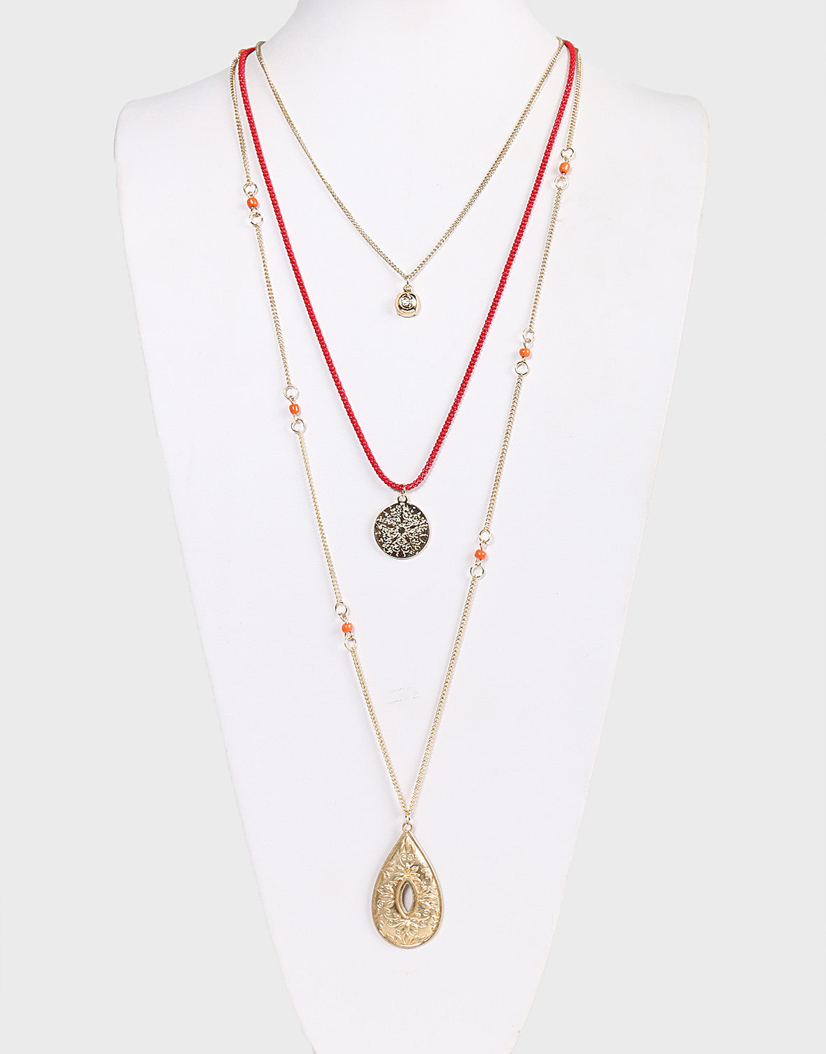 Boho Layered Antique Necklace