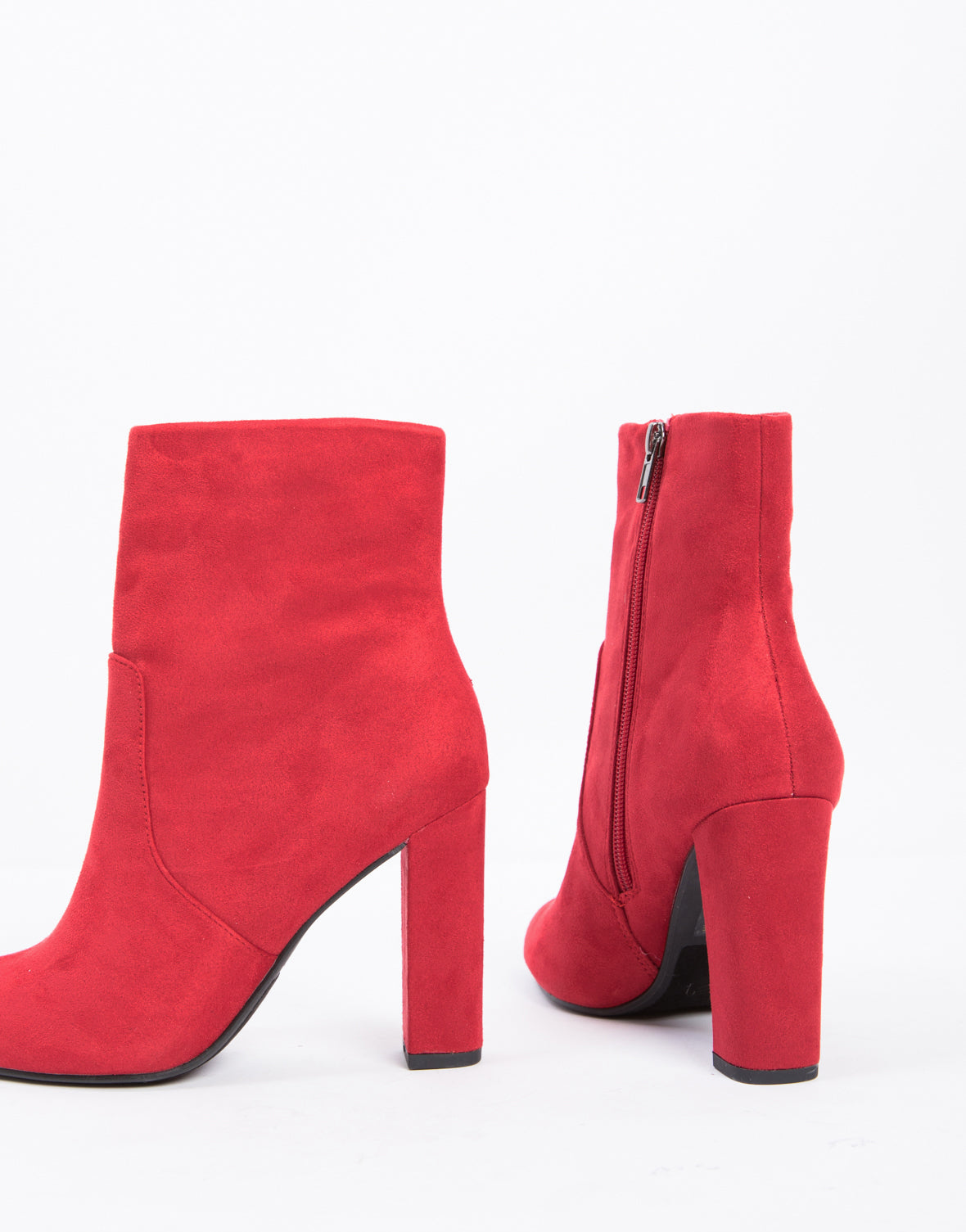 Bold Chunky Booties in Red
