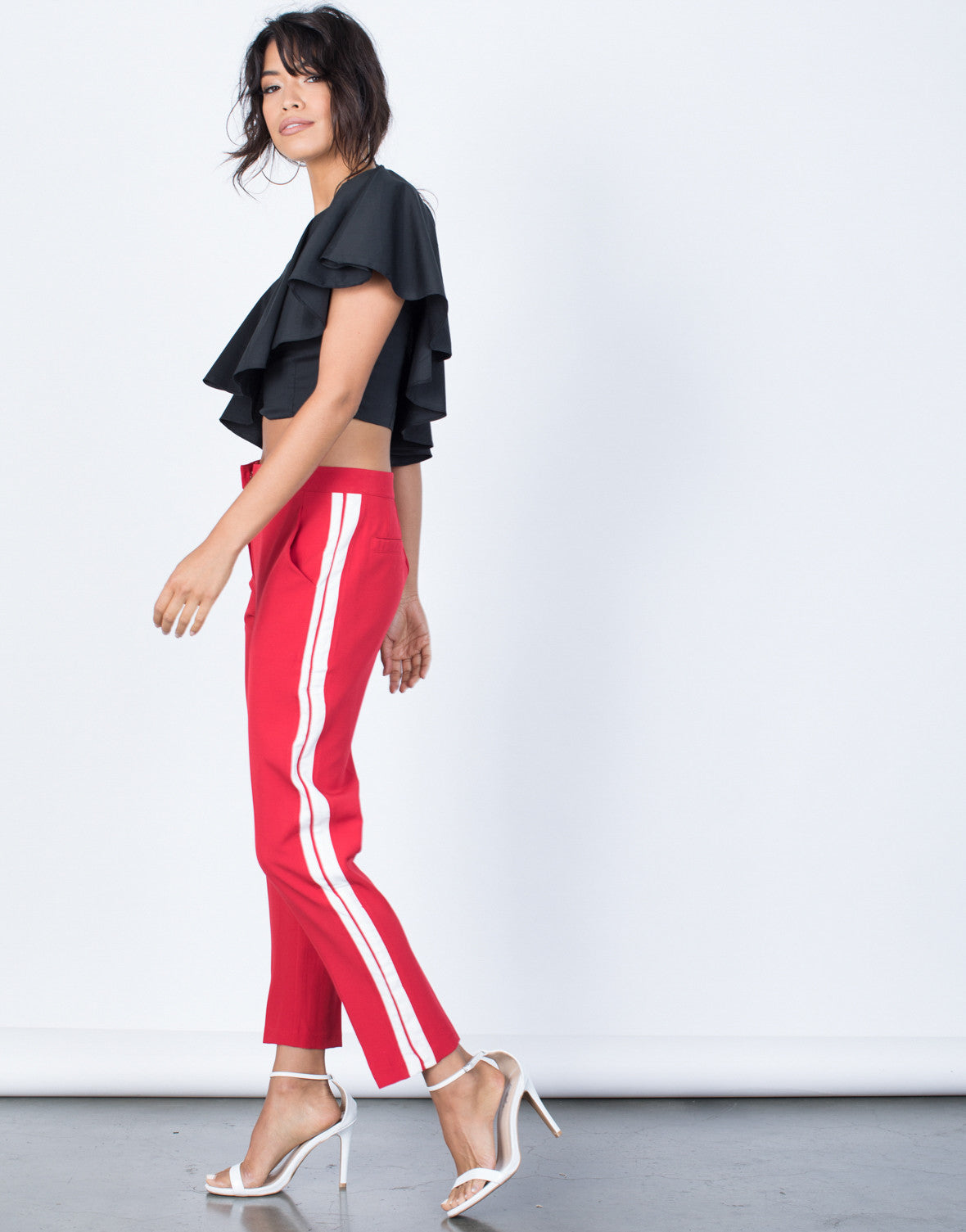 Side View of Bold in Stripes Pants