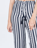 Detail of Bold Striped Culottes