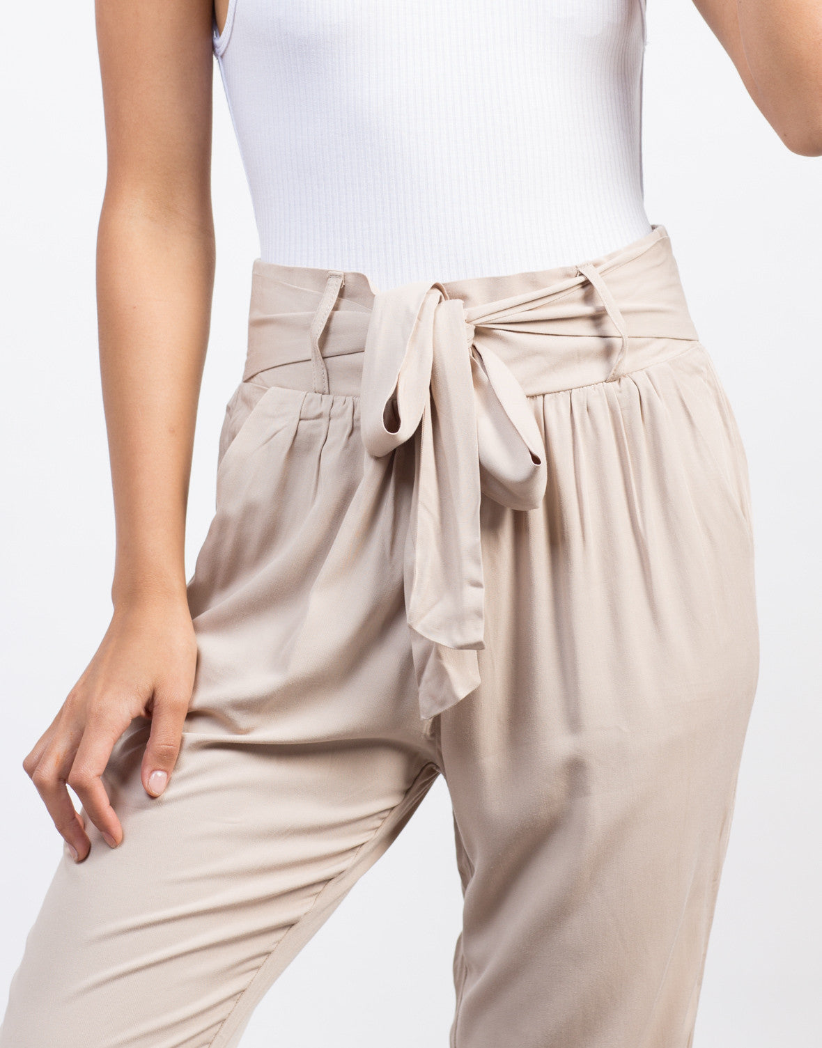 Detail of Bow Tie Harem Pants