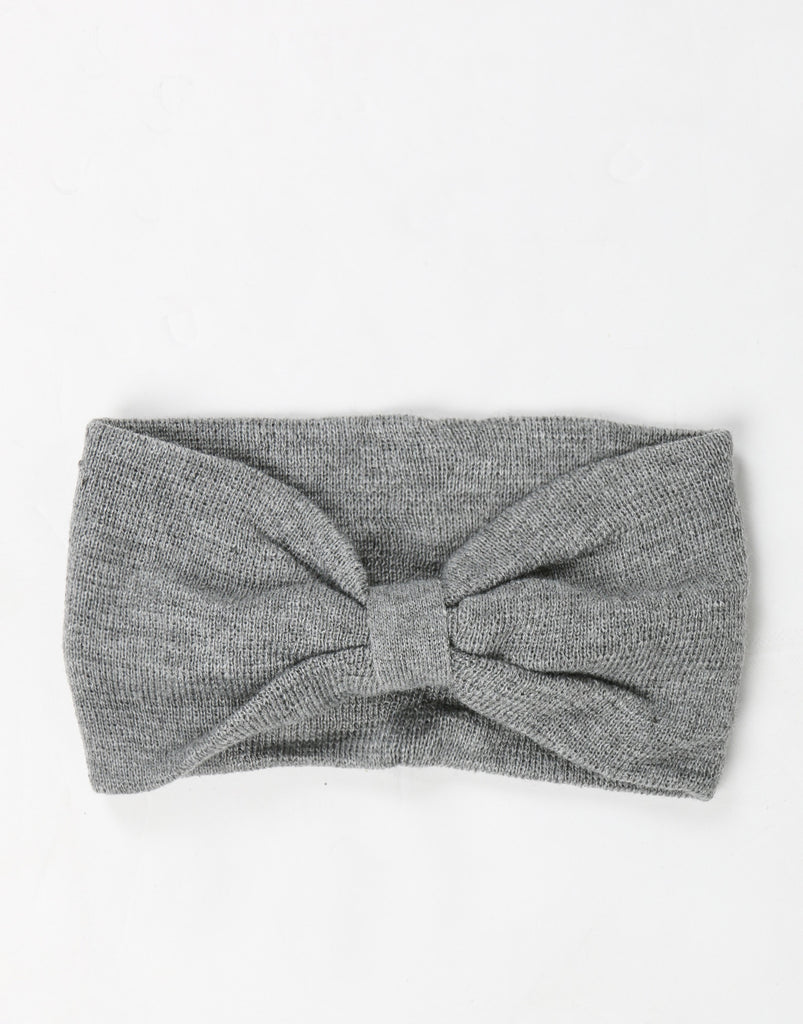 Bow Headwrap - Gray