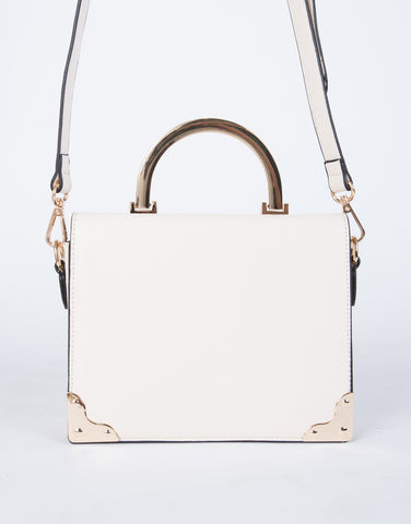 Boxy Leather Shoulder Bag