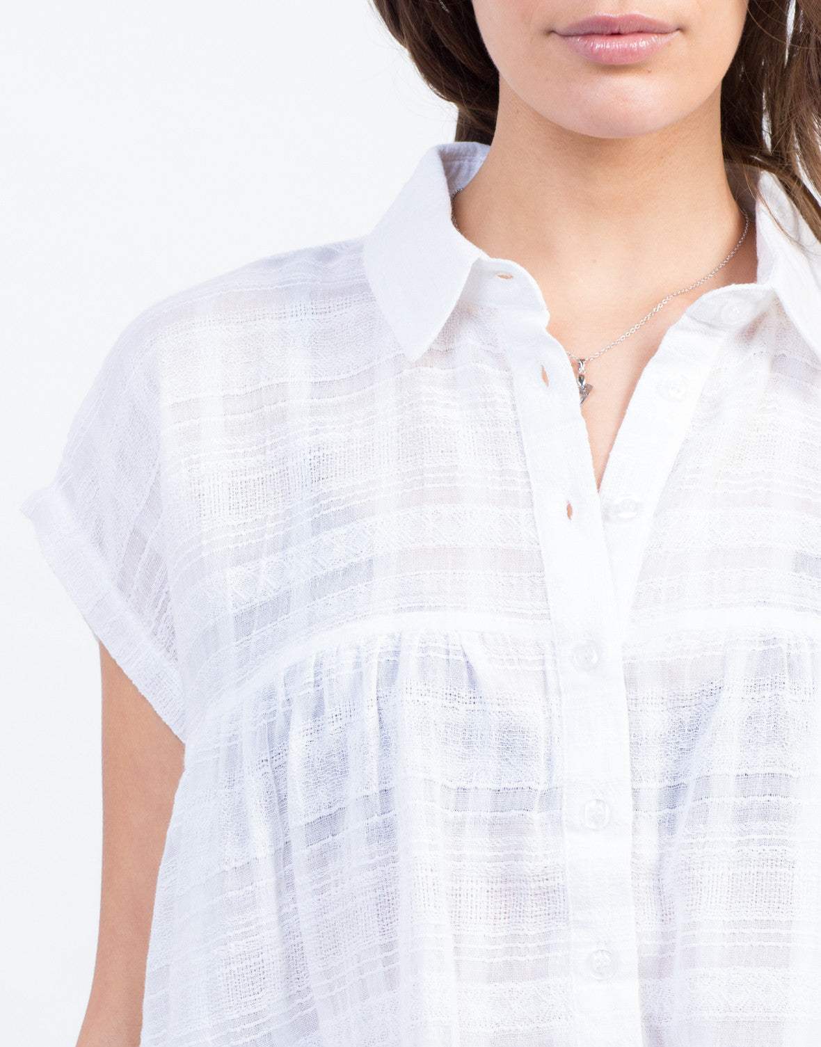 Detail of Boxy Babydoll Blouse