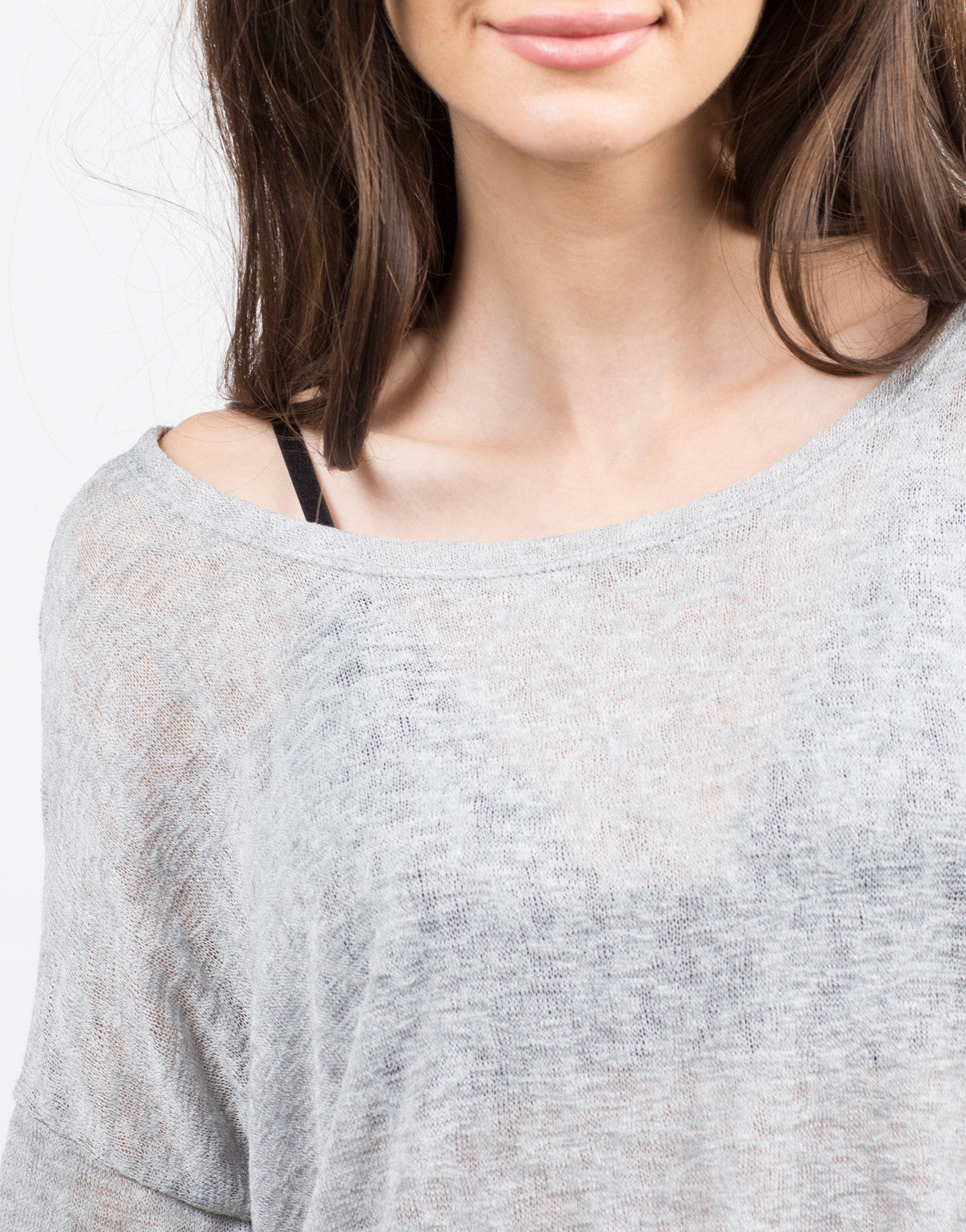 Detail of Boxy Lightweight Sweater Top