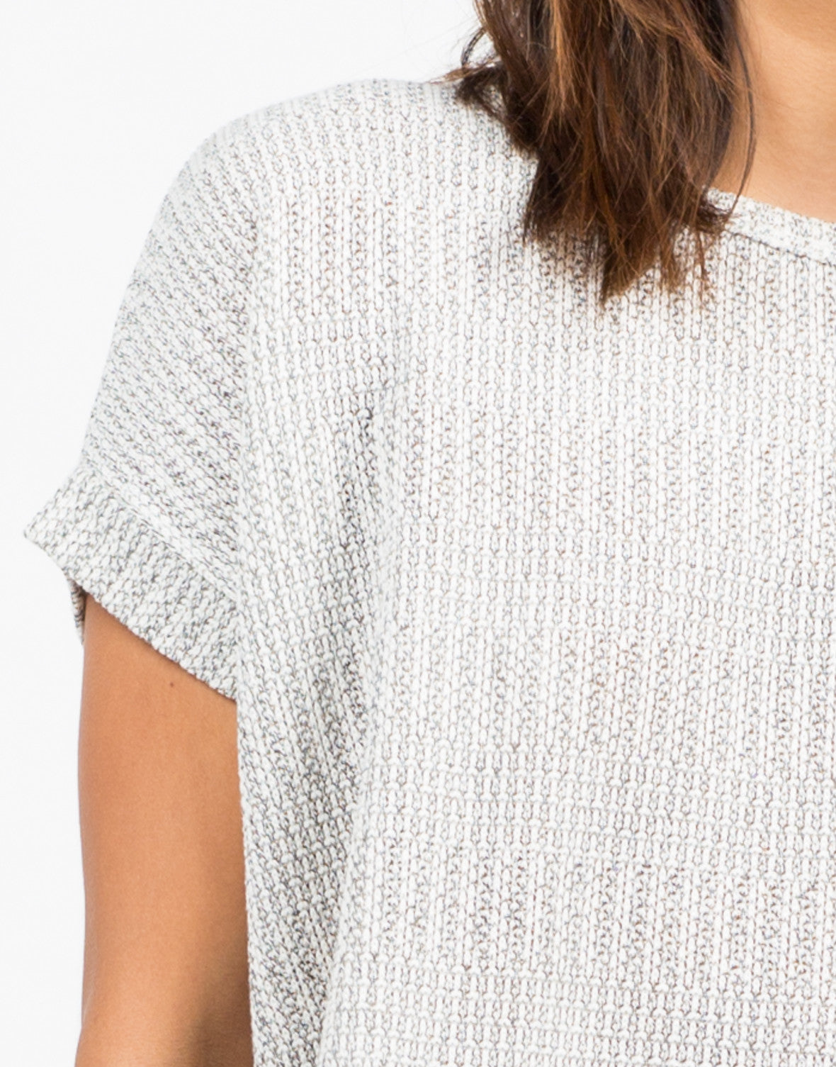 Detail of Boxy Sweater Top