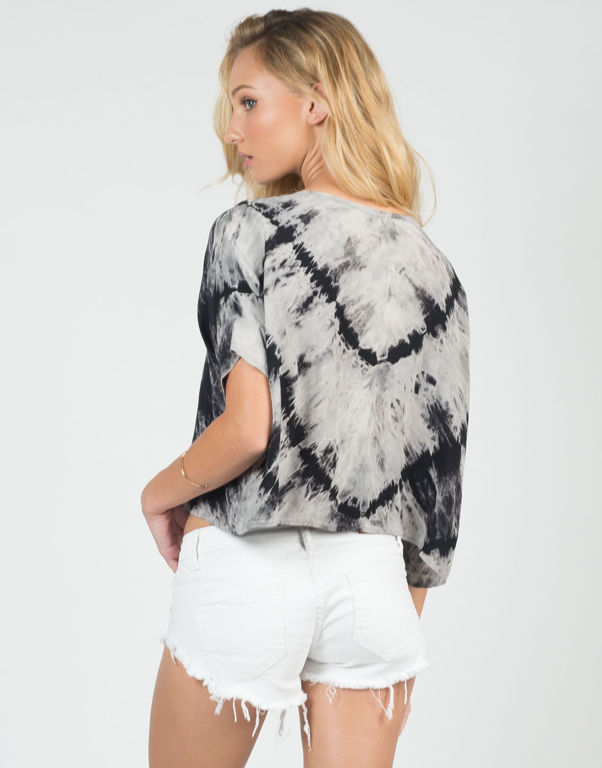 Back View of Boxy Tie-Dye Tee