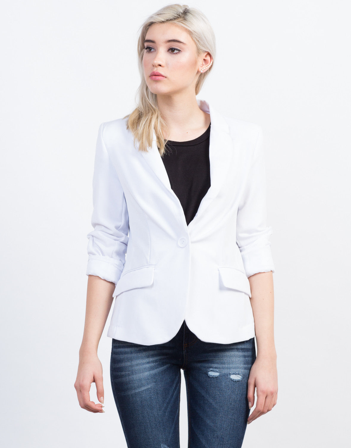 Front View of Boyfriend Blazer
