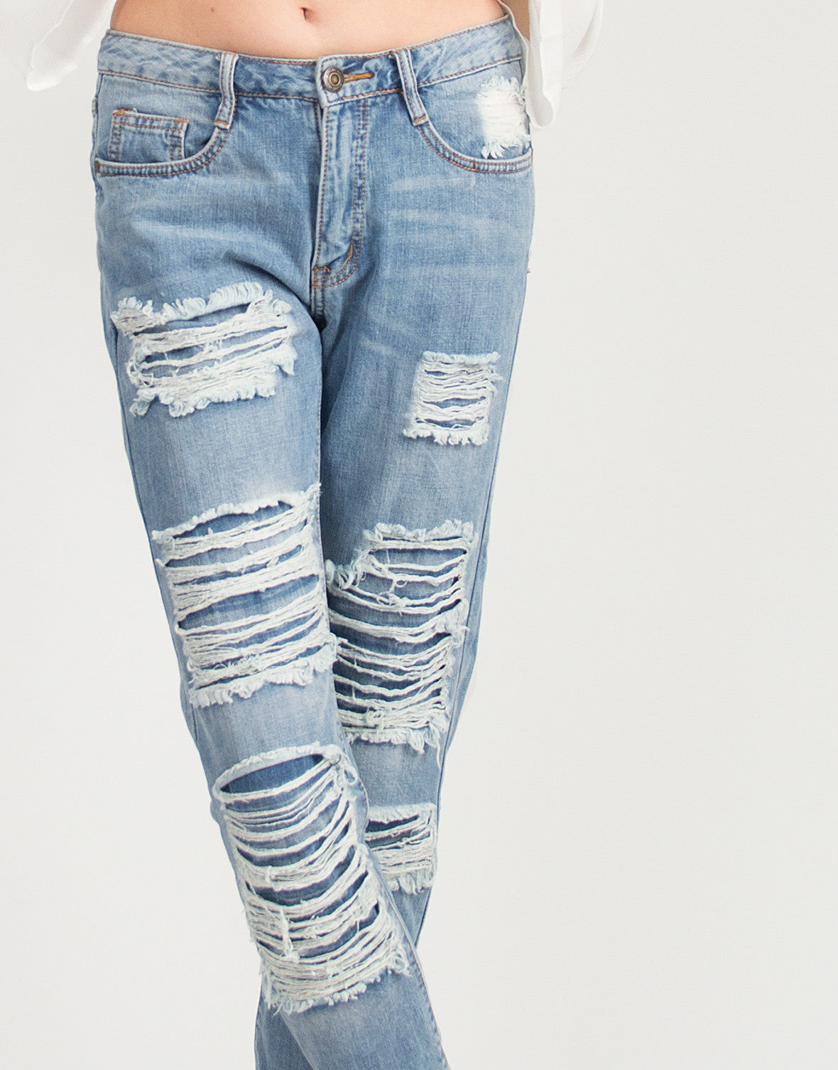 Boyfriend Destroyed Illusion Jeans