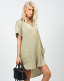Front View of Boyfriend Shirt Dress