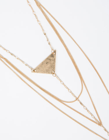 Braided Point Layered Necklace