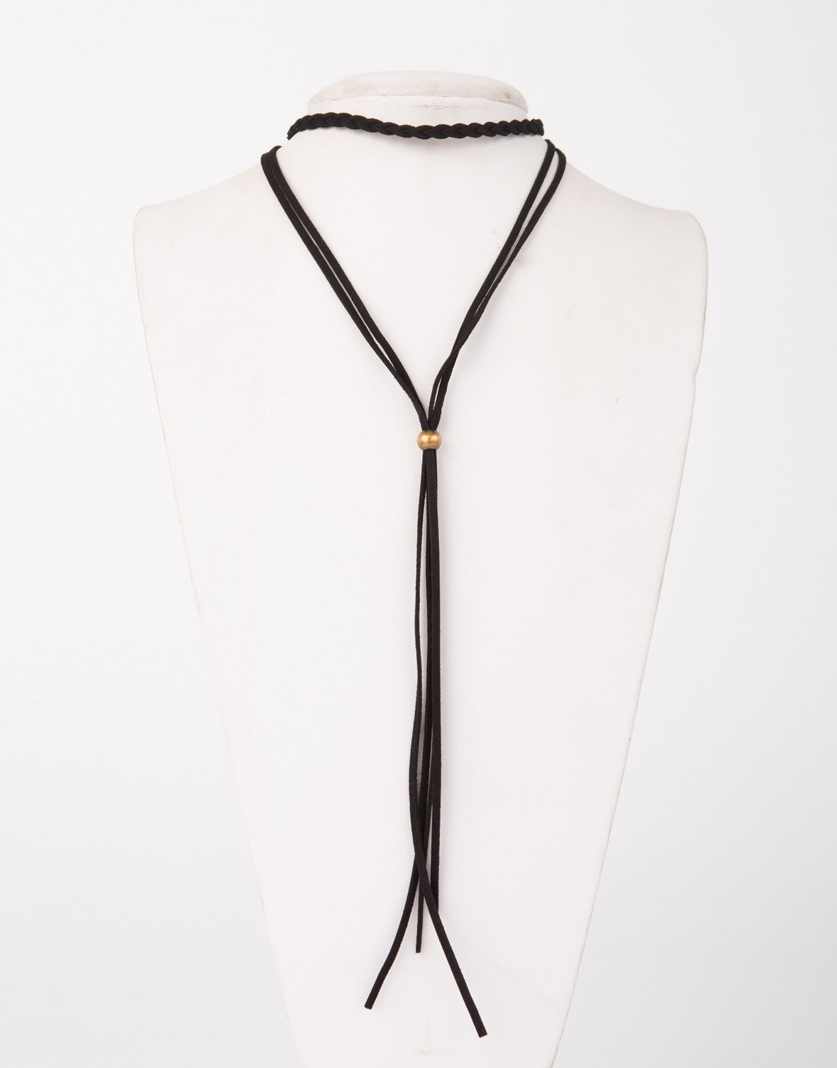 Braided Suede Choker Necklace