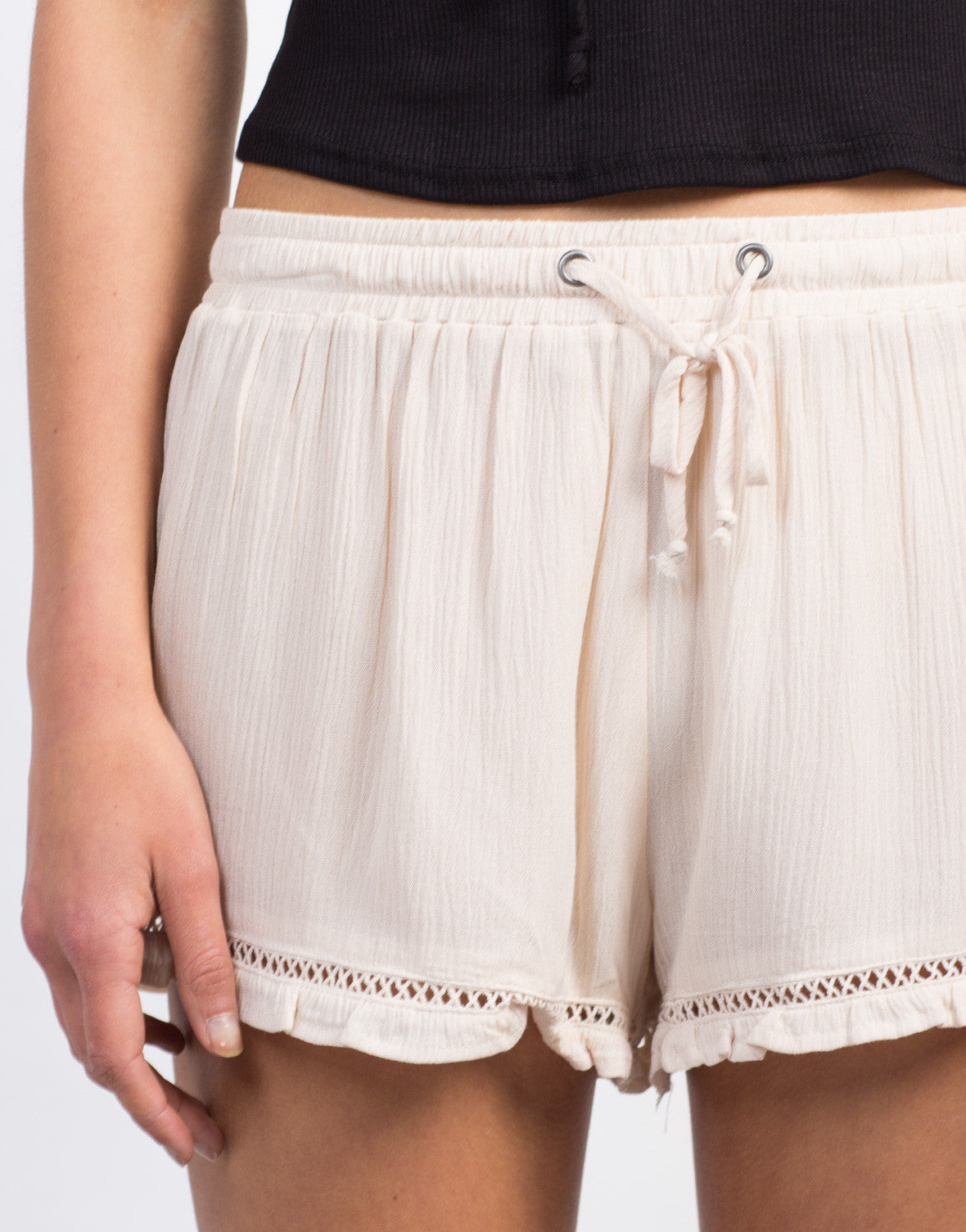 Detail of Breezy Gauze Shorts