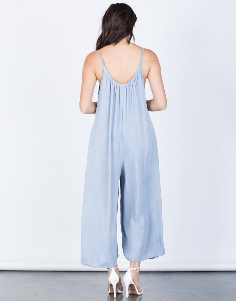 Back View of Breezy Oversized Jumpsuit