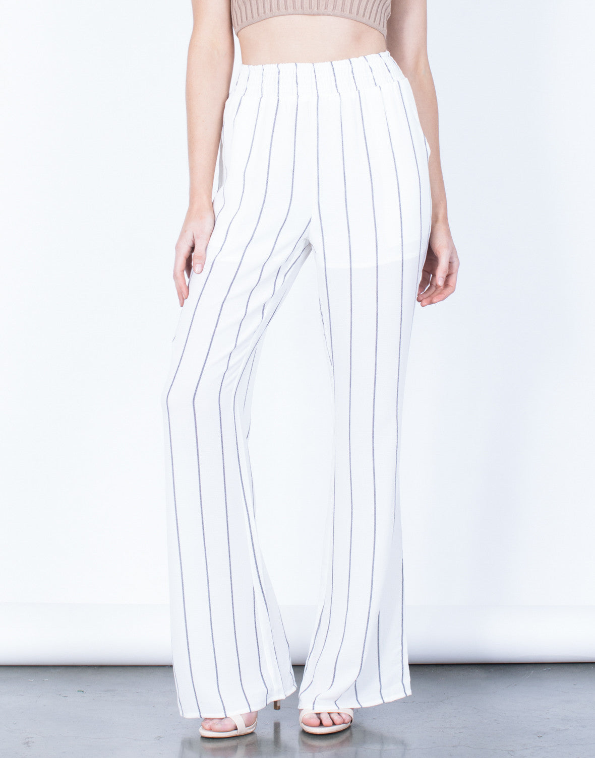 Breezy Striped Pants White Striped Pants Flowy Striped