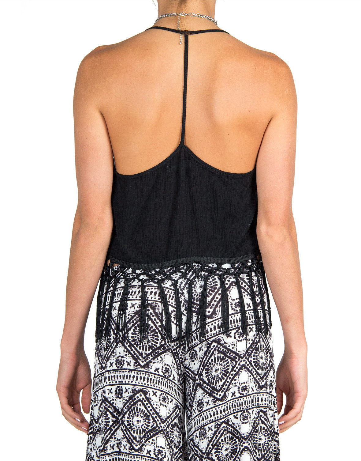 Breezy Back Fringed Tank