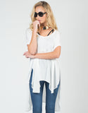 Front View of Breezy Boxy Flowy Tee