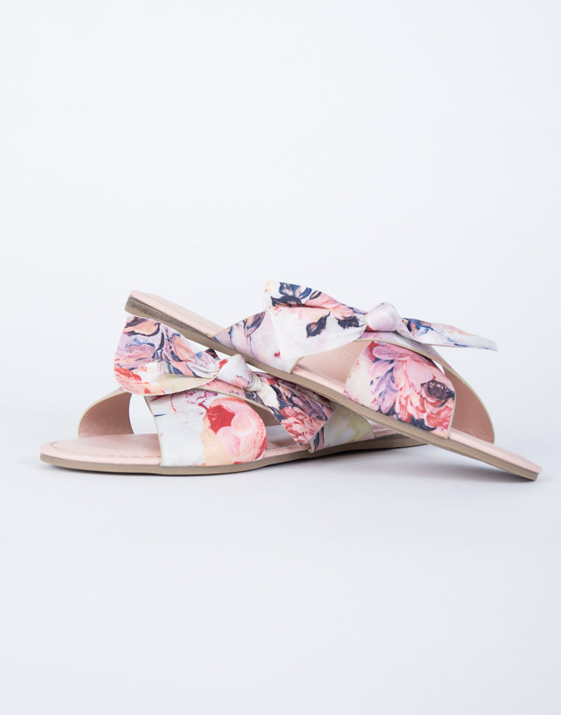 Brushed on Floral Slides