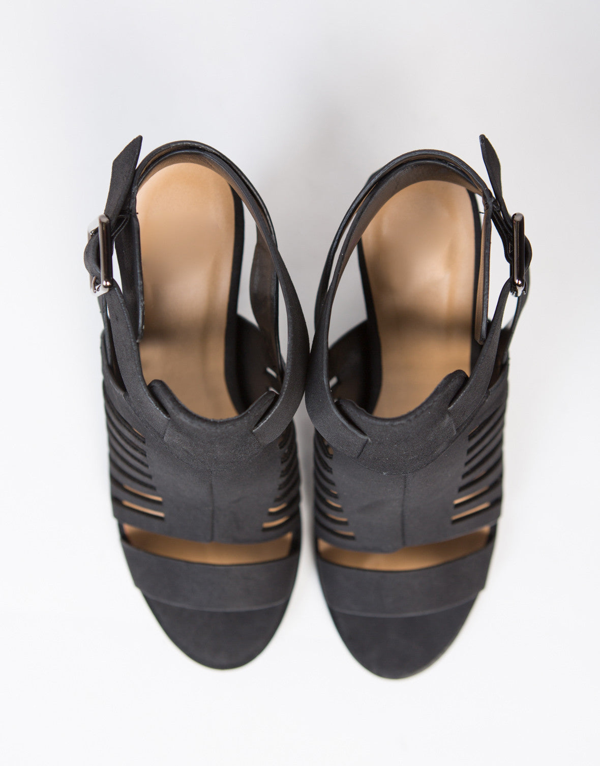Buckle Strap Caged Sandals