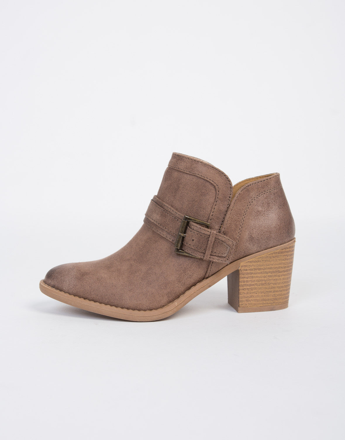 Buckled Western Booties