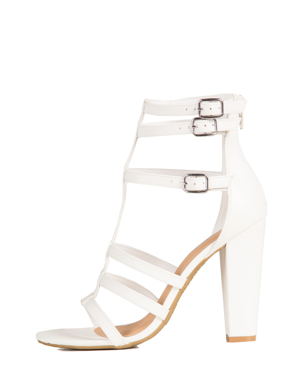 Buckled Up Sandal Heels